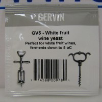 Винные дрожжи Gervin GV5 White Fruit Wine 5 гр.